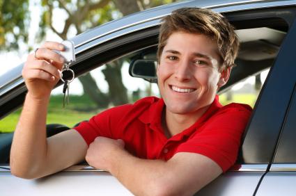 Teen in new car in Garden City, NY