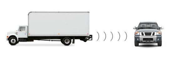 Manhattan truck with backup sensors