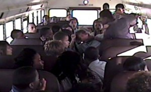 school bus fight camera