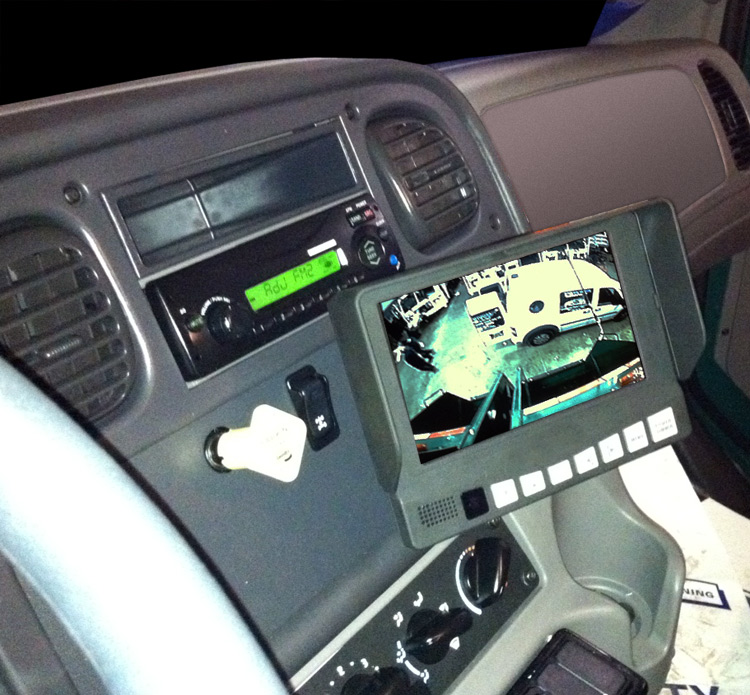 Garbage Truck Cab Backup Camera Gps Fleet Tracking And