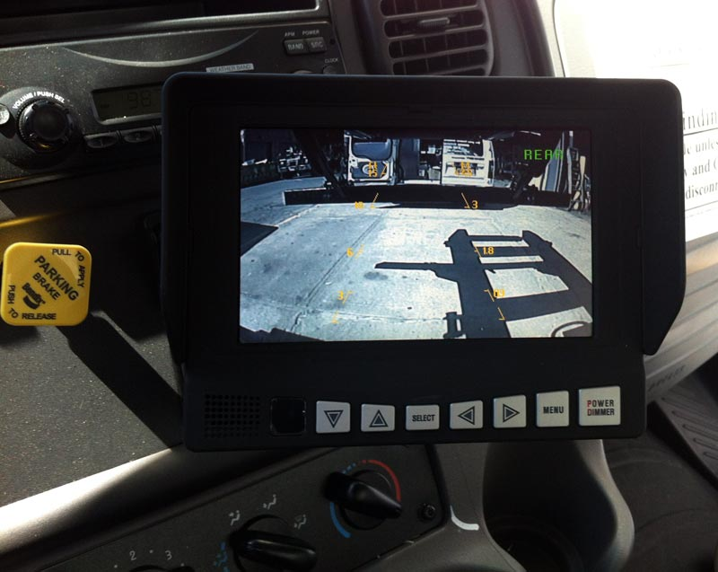 Backup Camera Monitor For Roll Off Truck Gps Fleet