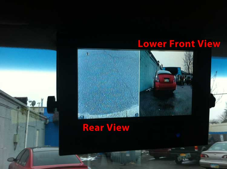 Front And Rear Monitor View Gps Fleet Tracking And Dvr
