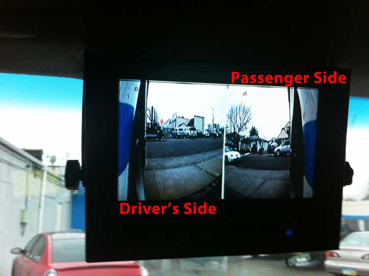 Side Views Of Bucket Truck Cameras Gps Fleet Tracking
