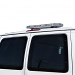MOSS-8711w LED Mini Roof Light Bar Mounted On Van