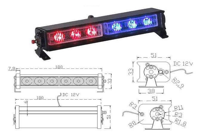 Moss 22 modular led mini light bar gps fleet tracking and dvr moss 22 mini deck led bar spec aloadofball Images