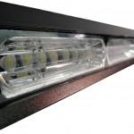 MOSS-9800-8 8-8 LED Modular Light Bar Angled Close Up