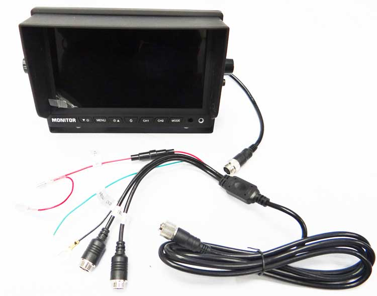 D7004 Vehicle Video Monitor Gps Fleet Tracking And Dvr